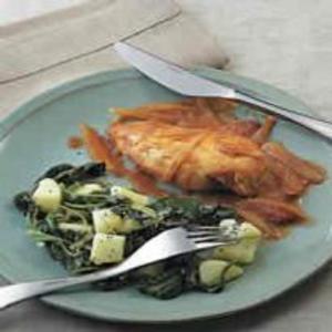 Receita de Frango com batata e espinafre