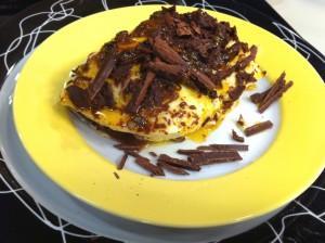 Receita de Lasanha de Chocolate com Mousse de Maracujá