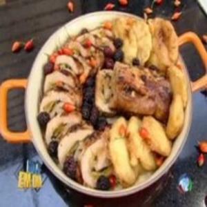 Receita de Lombo recheado de damasco com abacaxi por Edu Guedes