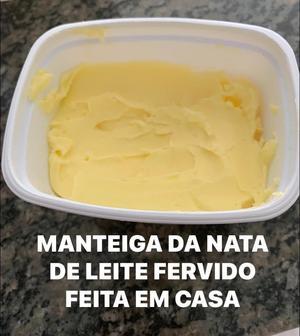 Receita de Manteiga de Nata de Leite Fervido