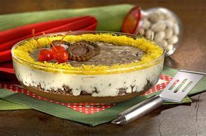 Receita de Mousse Mesclado de Chocolate com Pistache