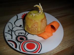 Receita de Muffin de Laranja com Calda de Cenoura