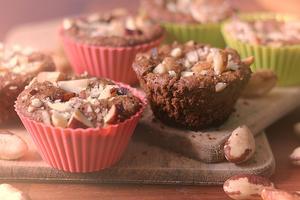 Receita de Muffins Integrais de Castanha-do-Pará e Passas