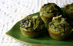 Receita de Muffins Integrais de Queijo e Espinafre