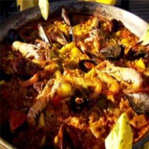 Receita de Paella de frutos do mar do Globo Repórter
