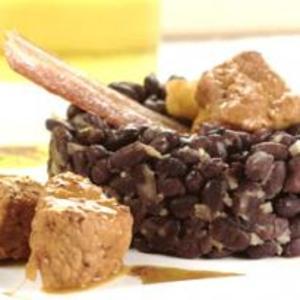 Receita de Pernil, porco, molho, laranja, feijão-preto
