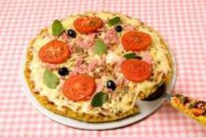Receita de Pizza de Mussarela com Presunto