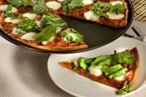 Receita de Pizza de Mussarela de Búfala com Rúcula