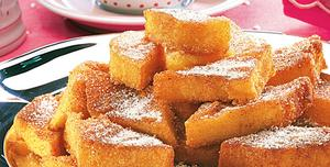 Receita de Polenta com açúcar e canela