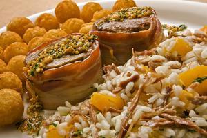 Receita de Risoto de Carne Seca e Abóboras