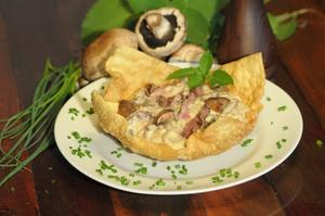Receita de Risoto de Cogumelos Portobello com Mignon Grelhado