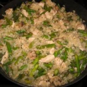 Receita de Risoto de frango com aspargo