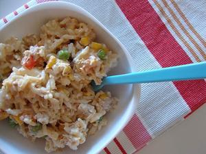 Receita de Salada de Arroz e Atum com Maionese