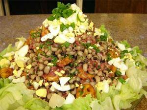 Receita de Salada de carne seca, feijão de corda e manteiga de garrafa
