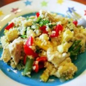 Receita de Salada de Frango com Cuscuz Marroquino