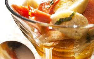 Receita de Salada de frutas com calda de laranja
