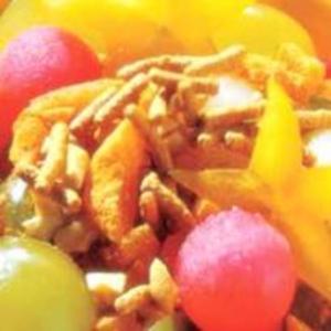 Receita de Salada de frutas crocante