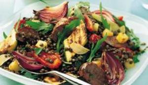 Receita de Salada de Lentilha de Luxo