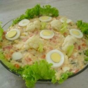 Receita de Salada de maionese com couve flor
