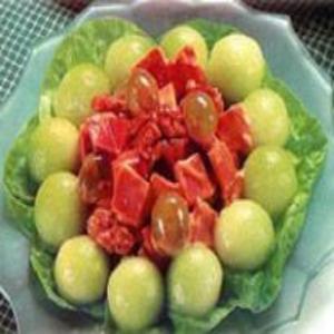 Receita de Salada de Melão com Presunto