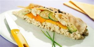 Receita de Sanduíche fácil de tofu e pepino japonês