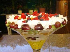 Receita de Sobremesa de Frutas e Merengue Diet