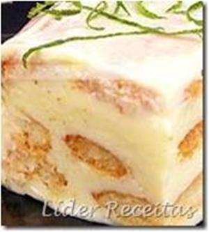 Receita de Sobremesa Prática de Limão