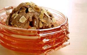 Receita de Sorvete Natural de Chocolate e Amêndoas