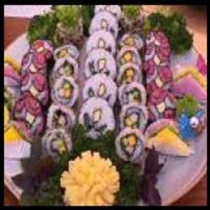 Receita de Sushi em flor