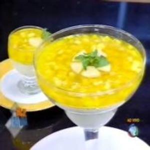 Receita de Taça de Abacaxi com Hortelã do Edu Guedes