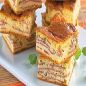 Receita de Torta de Mandioquinha com Salaminho