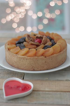 Receita de Torta Natalina de Ricota com Frutas Secas